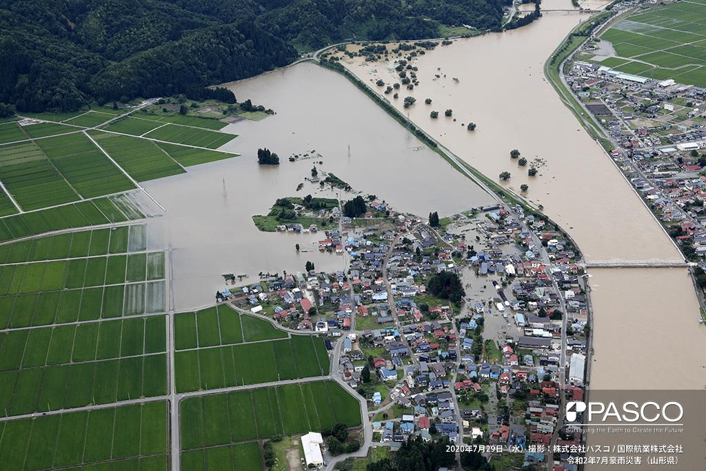 山形県大石田町大字横山付近 最上川左岸 大橋付近の氾濫