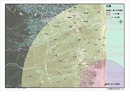 福島第一原子力発電所を中心とした半径3-10kmの範囲1