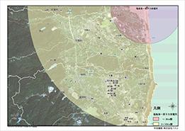 福島第一原子力発電所を中心とした半径3-10kmの範囲2