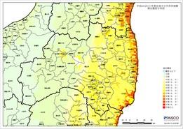 推定震度分布図(福島県)