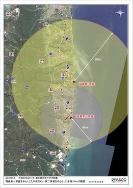 福島第一原子力発電所中心地図
