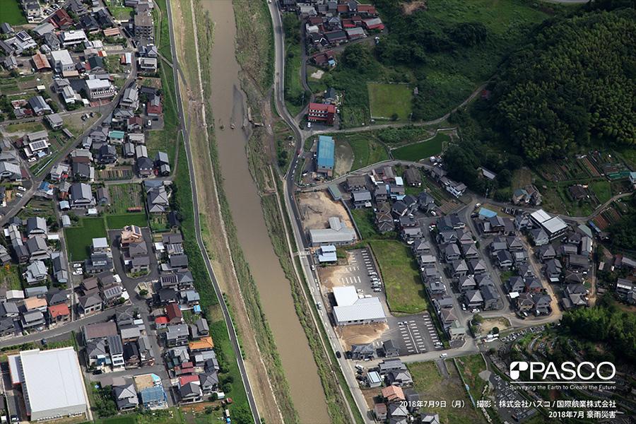 京都府舞鶴市字境谷 伊佐津川の増水により流出した橋梁
