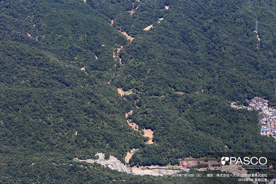 広島県安芸郡府中町みまくり 榎川氾濫箇所上流部の渓流の状況