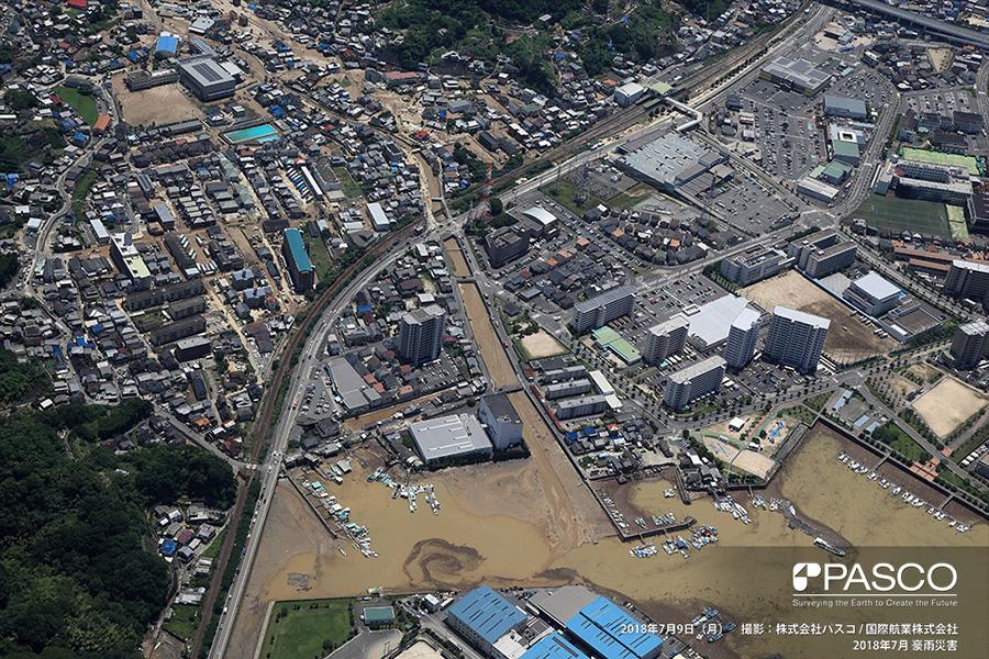 広島県安芸郡坂町平成ヶ浜 総頭川の河口まで達する土砂